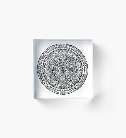 Black Moon Mandala Acrylic Block