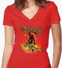 Ifrits Höllenfeuer-scharfe Soße Shirt mit V-Ausschnitt