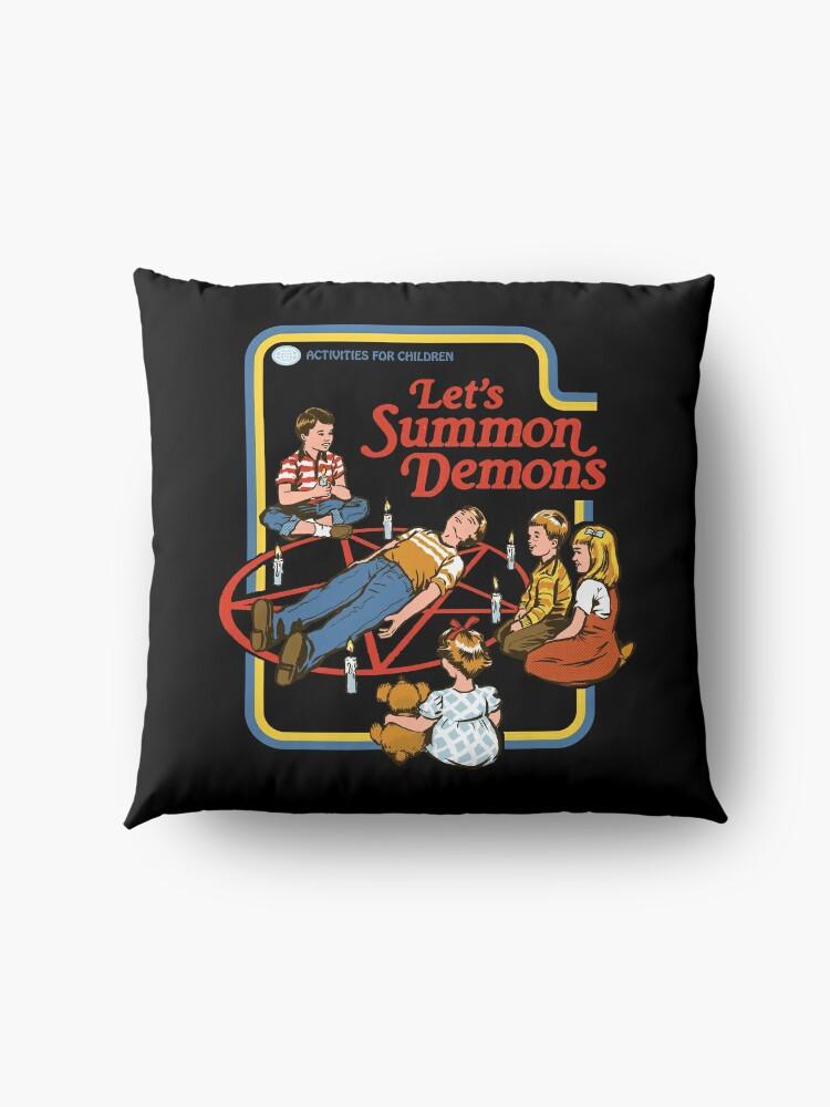 Alternate view of Let's Summon Demons Floor Pillow