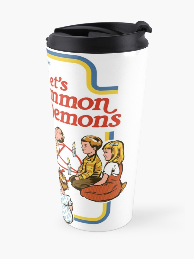 Alternate view of Let's Summon Demons Travel Mug