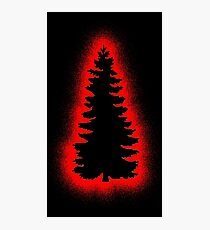 Xmas Tree - Graffiti Red Photographic Print