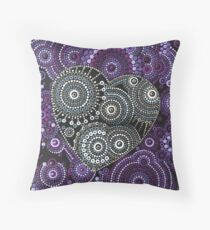 Stormy Heart Throw Pillow