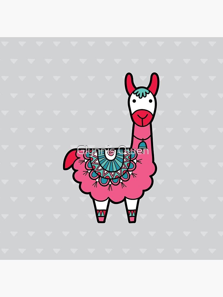 Doodle Llama Pink by goggo101