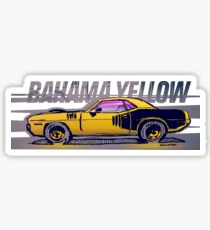 Bahama Yellow Cuda  Sticker