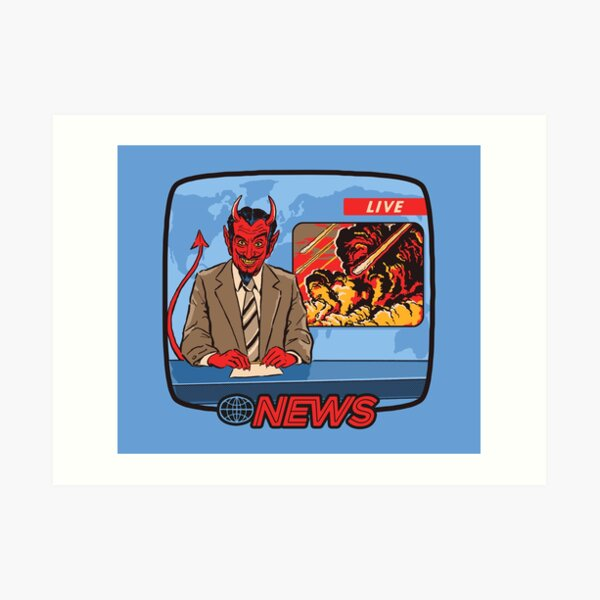 Breaking News Art Print