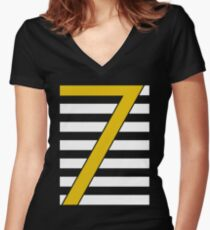 CR7 lines gold Women's Fitted V-Neck T-Shirt