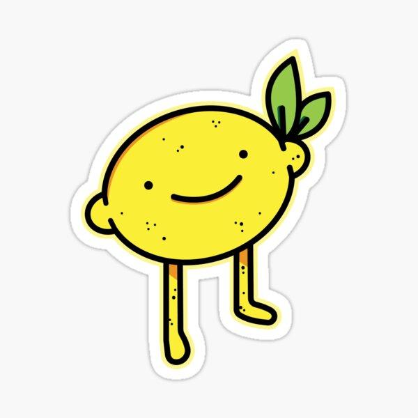 Smiling Lemon Sticker