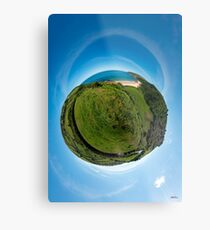 Kinnagoe Bay (as a floating green planet) Metal Print