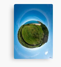 Kinnagoe Bay (as a floating green planet) Canvas Print