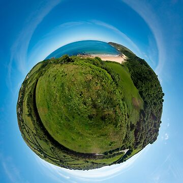Kinnagoe Bay (as a floating green planet) by VeryIreland