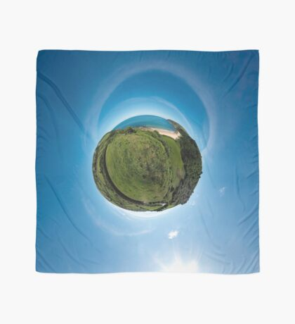 Kinnagoe Bay (as a floating green planet) Scarf