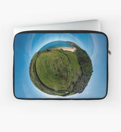 Kinnagoe Bay (as a floating green planet) Laptop Sleeve