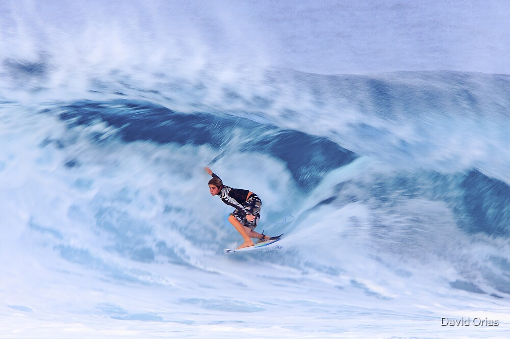 Hawaii Surfing Blur by David Orias