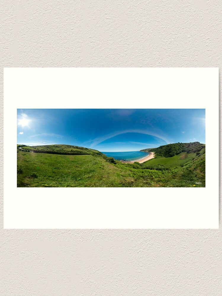 Alternate view of Kinnagoe Bay Panorama Art Print
