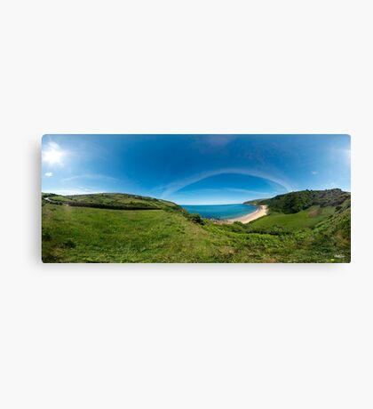 Kinnagoe Bay Panorama Canvas Print