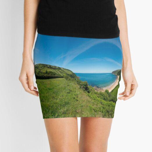 Kinnagoe Bay Panorama Mini Skirt