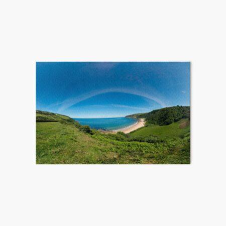Kinnagoe Bay Panorama Art Board Print