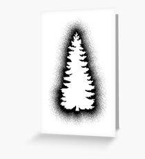 Xmas Tree - Graffiti Black Greeting Card