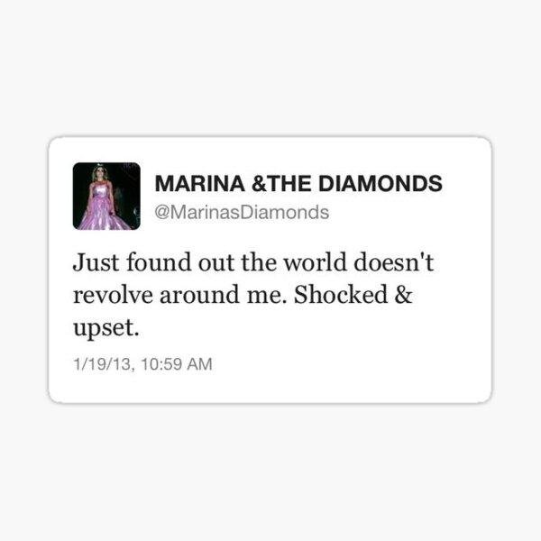 marina and the diamonds tweet  Sticker