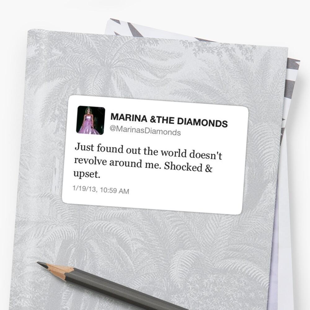 Marina und die Diamanten tweeten Sticker