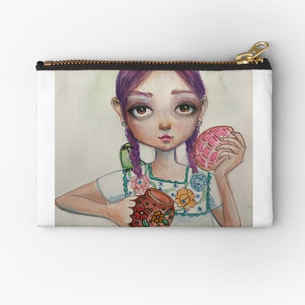 Concha and chocolate [latina art [mexican art Zipper Pouch