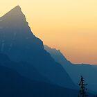 Fire Smoke in Mountains, Jasper, Alberta, Canada by Barrie Daniels
