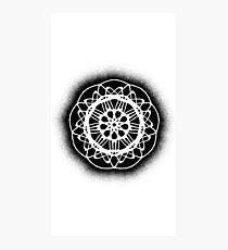 Rose Mandala - Graffiti Black Photographic Print