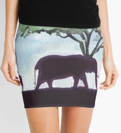 Africa's Grandest Animal Mini Skirt
