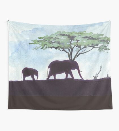 Africa's Grandest Animal Wall Tapestry