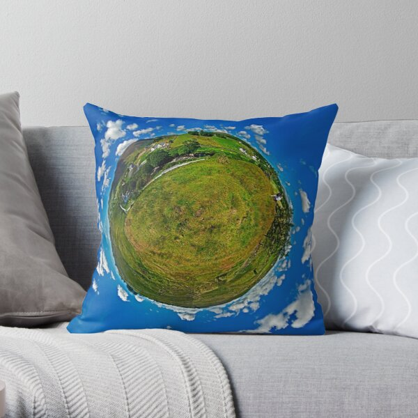 SlieveLeague from the Banks of the Glen River, near Carrick Throw Pillow