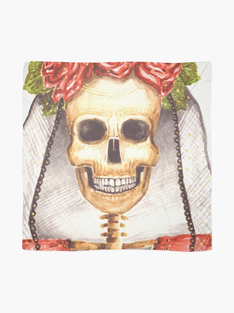 Alternate view of Watercolor Catrina Scarf