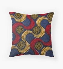African Fabric Throw Pillow
