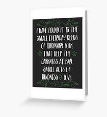 Worte der Weisheit von Gandalf Grußkarte