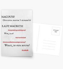 Macbeth: Nailed it! Postcards