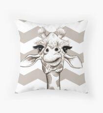 Sketch Giraffe Throw Pillow