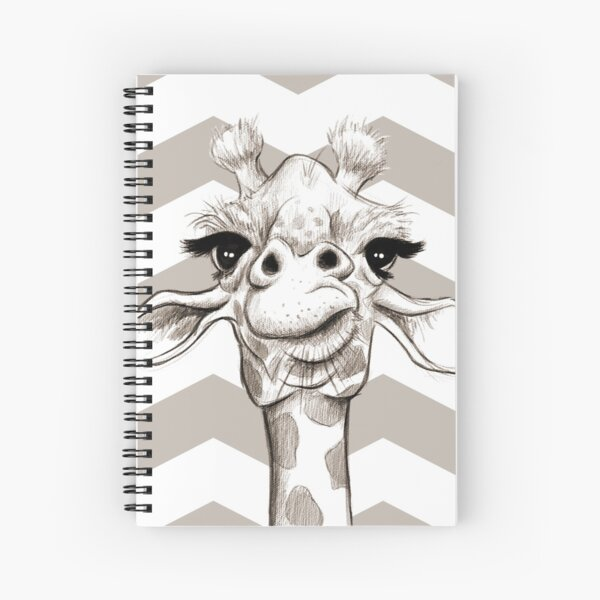 Sketch Giraffe Spiral Notebook