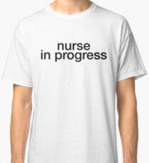 Nurse In Progress - Cool Nurse Sticker T-Shirt Pillow Classic T-Shirt