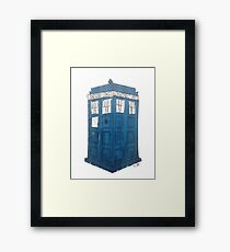 Tardis - Dr Who Framed Print