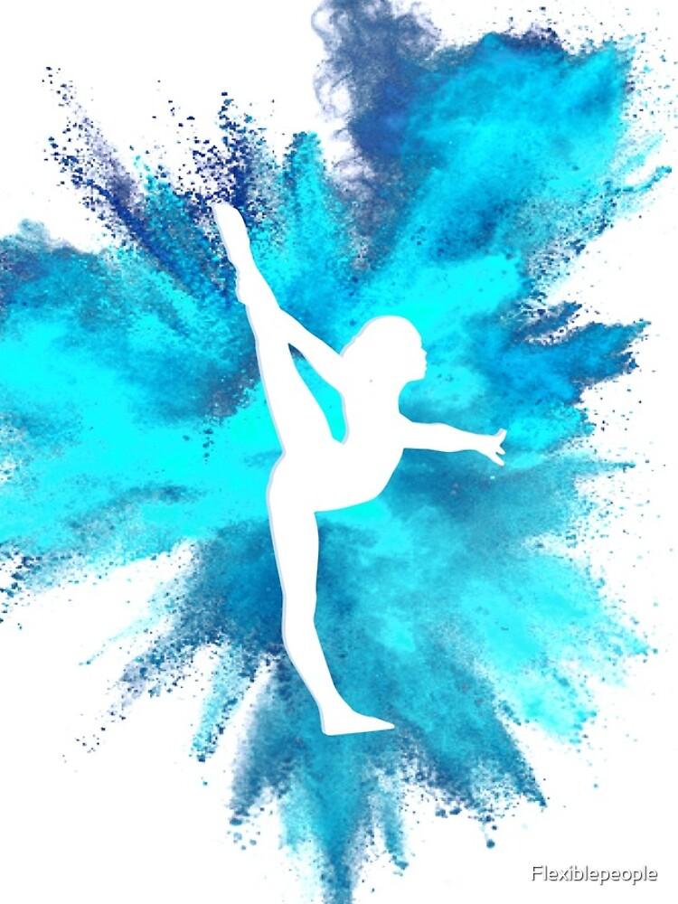 Turner Silhouette - blaue Explosion von Flexiblepeople