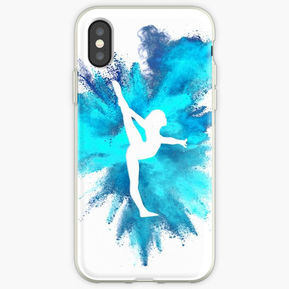 Turner Silhouette - blaue Explosion iPhone-Hüllen & Cover