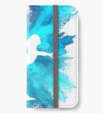 Gymnast Silhouette - Blue Explosion  iPhone Wallet/Case/Skin