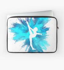 Gymnast Silhouette - Blue Explosion  Laptop Sleeve