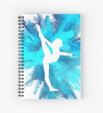 Gymnast Silhouette - Blue Explosion  Spiral Notebook
