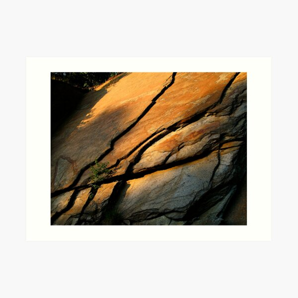 Lines In Stone Art Print