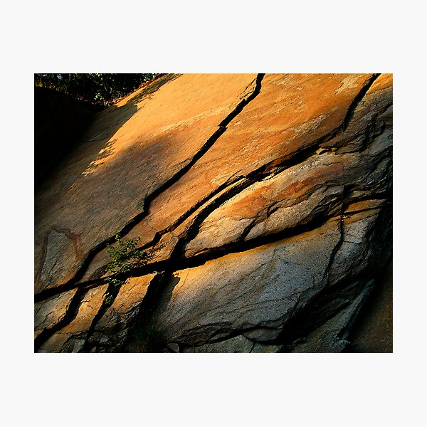 Lines In Stone Photographic Print