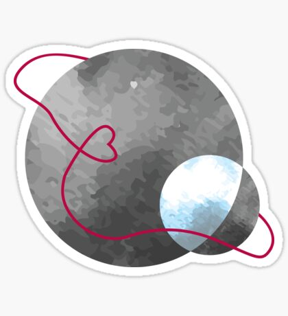 When the sun embraces the moon - Happy Valentines Day Sticker