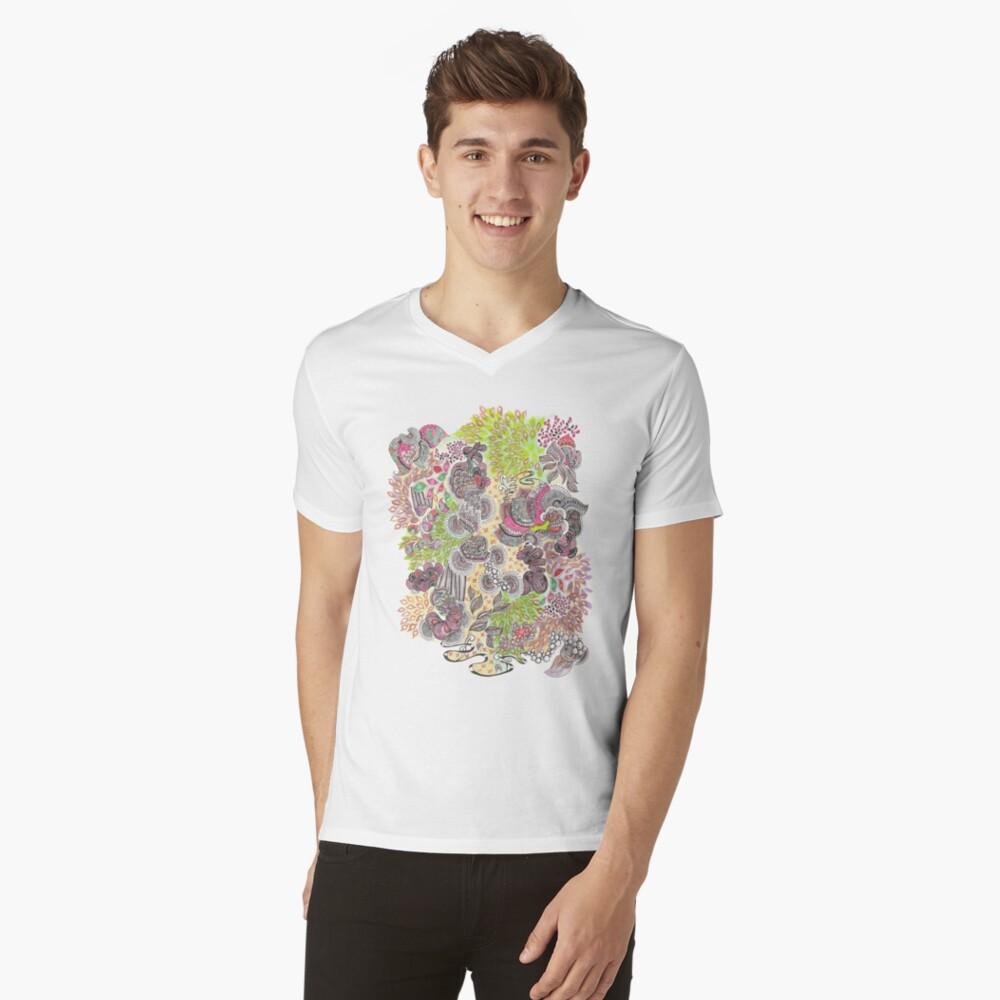 The Treetops Men's V-Neck T-Shirt Front