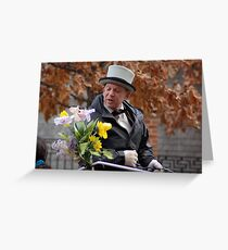 Horse Carraige Driver with Personality Greeting Card