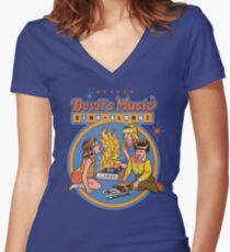 Devil's Music Sing-Along Women's Fitted V-Neck T-Shirt