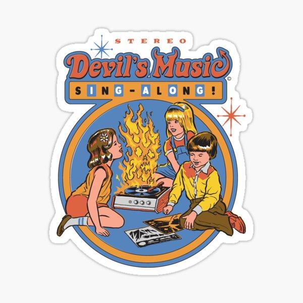 Devil's Music Sing-Along Sticker